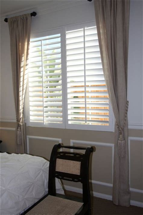 shutters and curtains polywood shutter with side curtains remus shutters