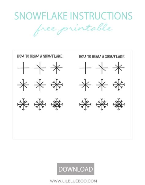 printable directions how to make a snowflake a frozen winter birthday party and free printables