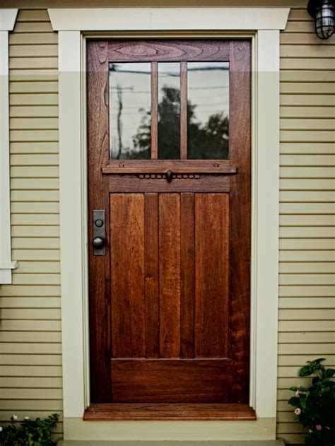 A Craftsman Style Door Of Spanish Cedar And Antique Glass Front Door Craftsman Style