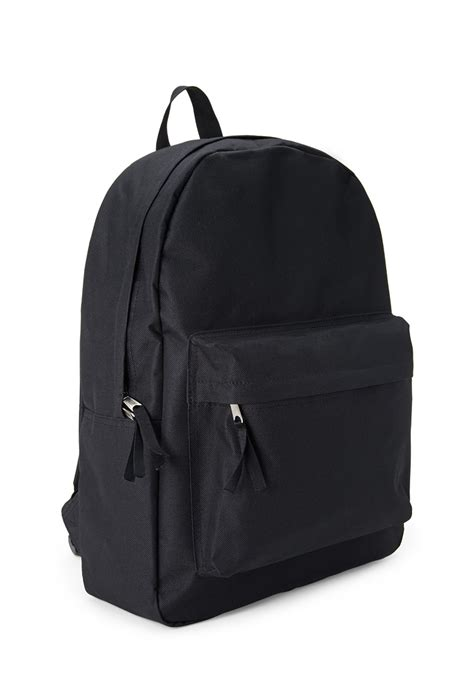 black canvas rucksack backpack lyst forever 21 classic canvas backpack in black