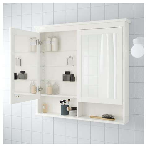 ikea bathroom mirror cabinets hemnes mirror cabinet with 2 doors white 103x16x98 cm ikea