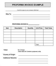 pre invoice template 7 proforma invoice templates free documents in
