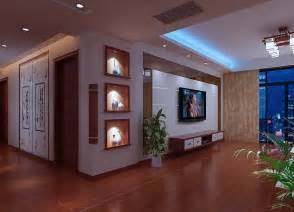 Display Cabinets For Living Room Living Room Tv Wall And Display Cabinets Render