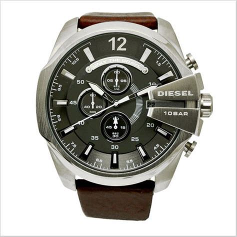 Diesel Brave Steel 2 diesel mega chief quot only the brave quot gents chronograph leather dz4290 sustuu