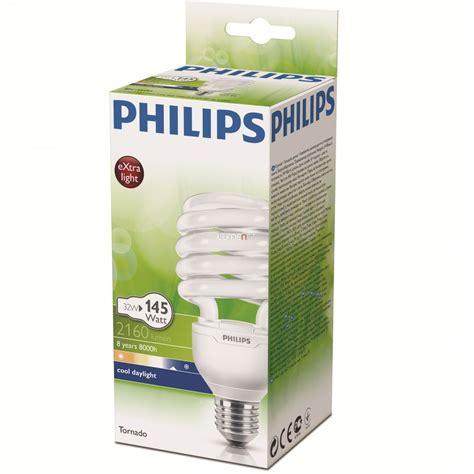 Lu Philips Tornado 32 Watt philips tornado esaver 32w 865 e27 6500k 8000h csavart