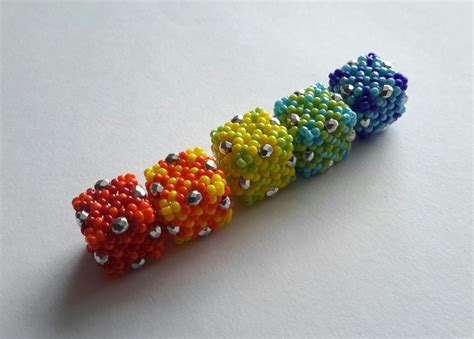bead it hollow cube beaded bead tutorial by sangster