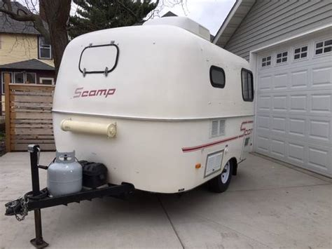 sold   scamp  bathroom  minneapolis mn fiberglass rvs  sale