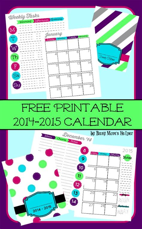 printable life planner 2015 6 best images of 2014 2015 life planner free printables