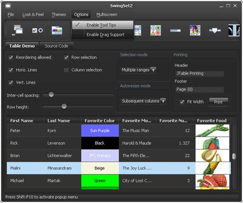 themes download in java synthetica java look and feel