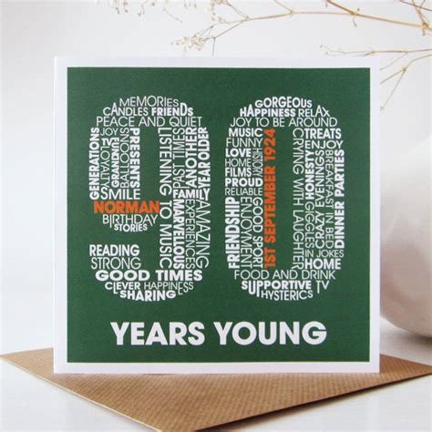 90th Birthday Cards Personalised 90th Birthday Card By Mrs L Cards