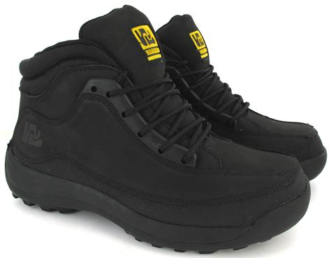 size 13 mens work boots new mens leather safety boots trainers steel toe cap ankle