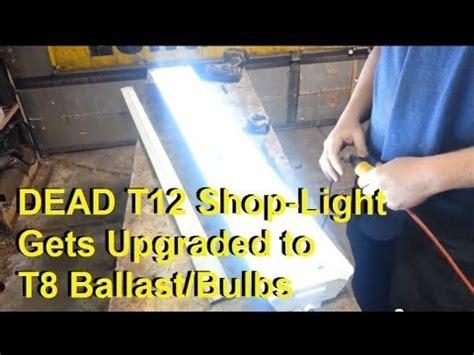 convert  florescent shop lights   ballast  bulbs youtube