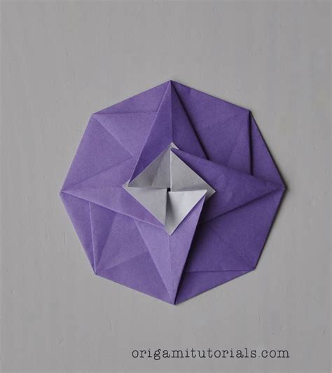 Paper Folding Designs Tutorial - origami octagonal tatou tutorial origami tutorials