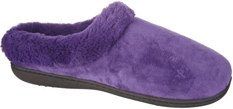 dearfoams slipper dearfoams womens microfiber velour clog slippers ebay