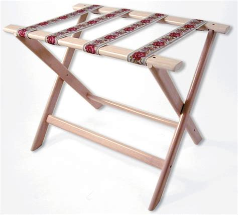 whitewash wood luggage rack with brown straps 022 177ww