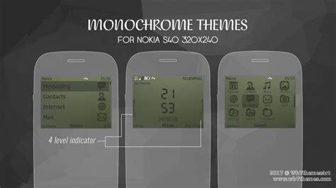 theme khusus nokia asha 210 monochrome theme asha 302 210 nokia c3 00 x2 01 asha 200