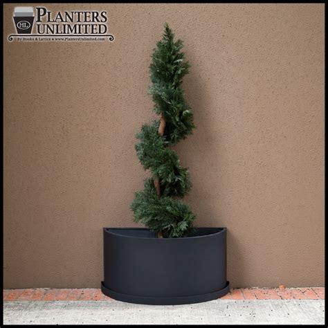 Semi Circle Planter by Fiberglass Half Planters