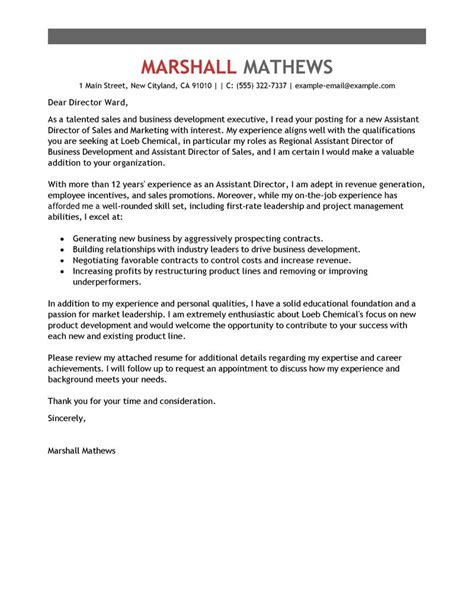 how to write a cover letter for management position leading professional assistant director cover letter