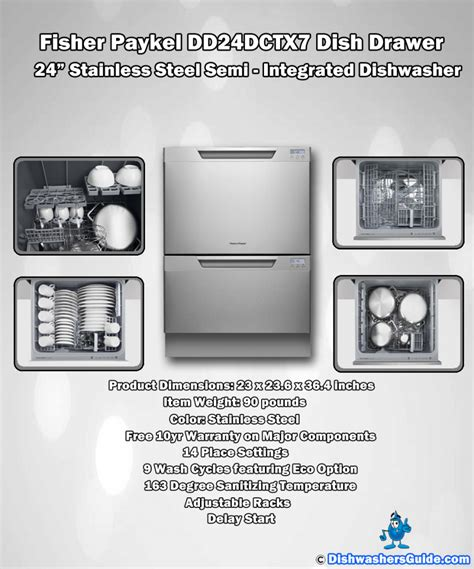 fisher paykel double drawer dishwasher manual of the fisher paykel dd24dctx7 dish drawer 24