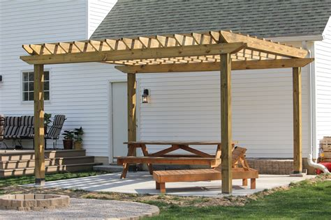 a diy back yard transformation pergola deck fire pit