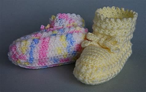 swan boats and daisy chains free crochet bootee pattern