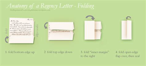 How To Fold A Paper Into A Letter - anatomy of a regency letter reputation for