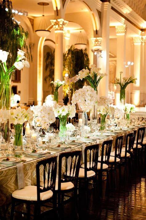 elegant table elegant reception table setting outdoor wedding