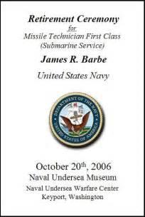 navy retirement program template my retirement ceremony