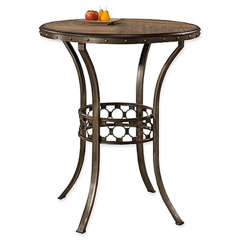 Bed Bath And Beyond Bistro Table Hillsdale Lannis Bar Height Bistro Table In Brown Bed Bath Beyond