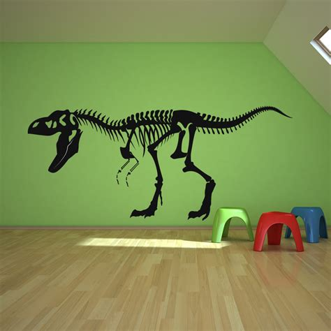 dinosaur wall stickers skeleton t rex dinosaurs wall decals wall stickers