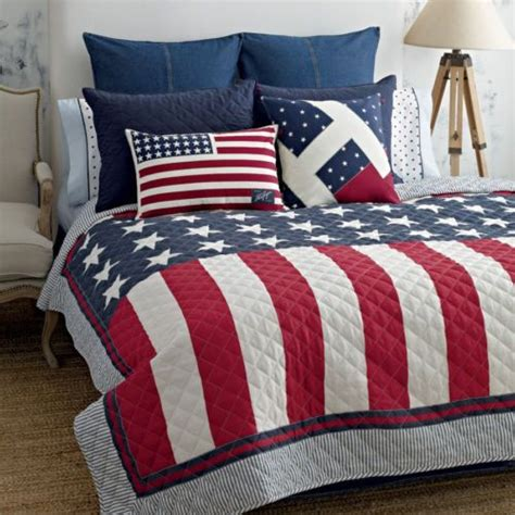 flag comforter tommy hilfiger american flag twin quilt red white blue