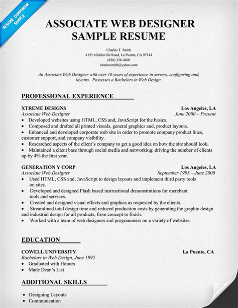 resume format for web designer resumes exles with quotes quotesgram