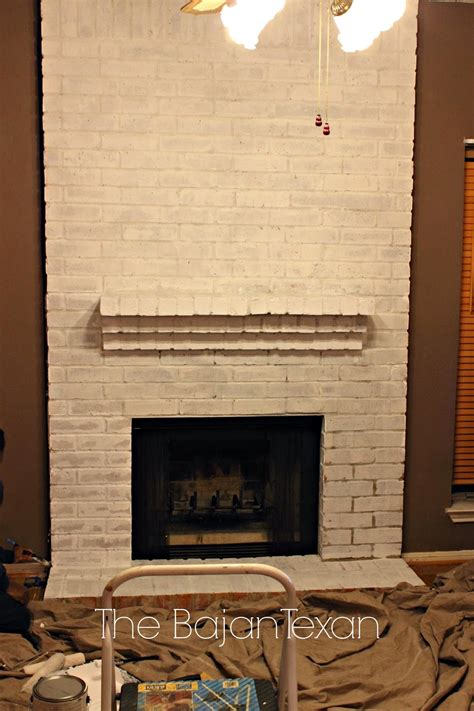 Paint Brick Fireplace by How To Paint A Brick Fireplace The Bajan Texan