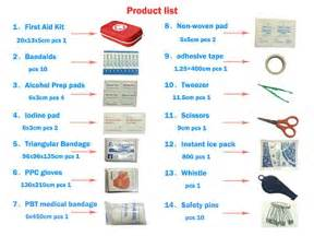 First Aid Kit Survival Box Red Cross Medical kits ? 14 Items Waterproof Portable