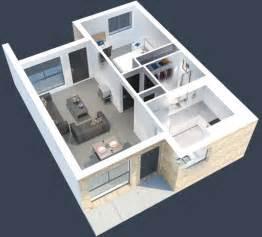 plano de casa peque 241 a de 60m2
