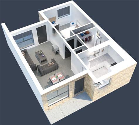 Japanese Apartment Layout by Plano De Casa Peque 241 A De 60m2