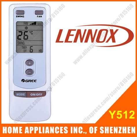 Remot Ac Lg Original Promo Promo Promo aliexpress buy lennox split portable air conditioner remote replacement y512