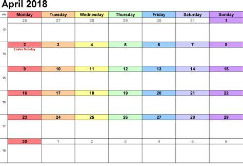 april 2018 calendar printable page april 2018 printable calendar printable calendar 2018