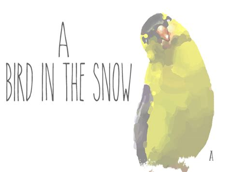 The Snow Falling Into My Wings Vol 1 a bird in the snow sobrsoldier saints sinners survivors club