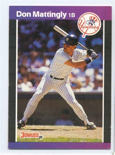 Don Mattingly Cards by 74 Don Mattingly Donruss Baseball Card 1989 Baseball