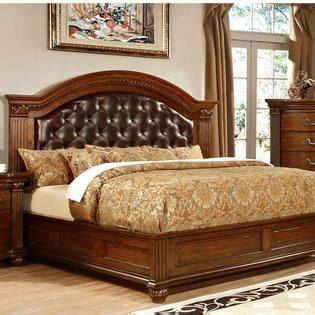 Cherry King Size Bed Frame 247shopathome Grandom Ii Traditional Style Cherry Finish Eastern King Size Bed Frame Set