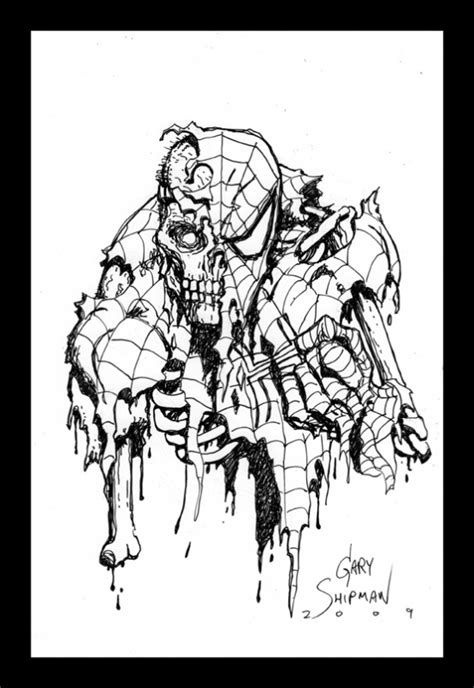 coloring pages of marvel zombies zombie spiderman in gary shipman s spider man pieces of