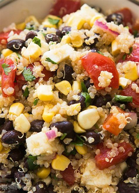 mexican quinoa salad with black beans and shape magazine 1000 images about for christina on pinterest farmers
