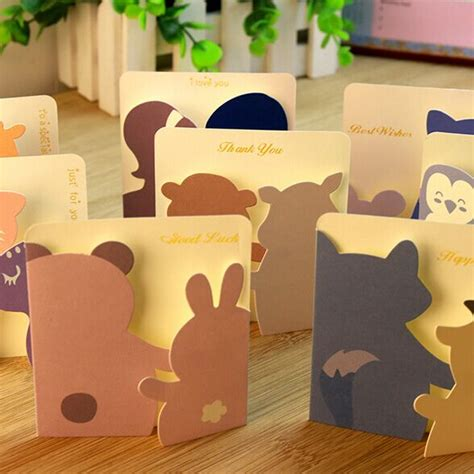 animal small gift cards template animal small gift cards creative mini greeting cards