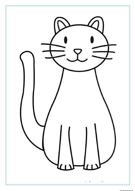 preschool coloring pages cats printable cat coloring sheets for kidsfree printable