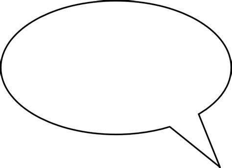 speech balloon template blank speech clip at clker vector clip