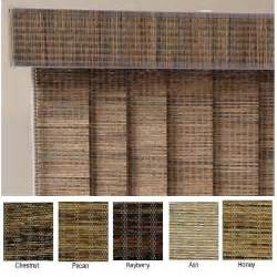 Bamboo Valance Curtains Fabric Vertical Blinds Home Makeover Diva