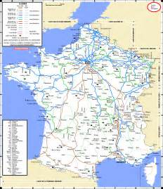 France Train Map by Enlarged Map