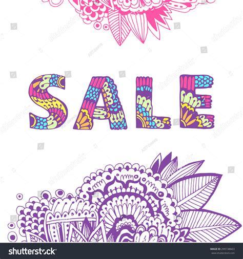 mandala pattern font word sale beautiful hand drawn letters doodle font