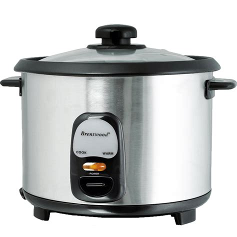 Rice Cooker Aluminium brentwood 10 cup rice cooker non stick with steamer free